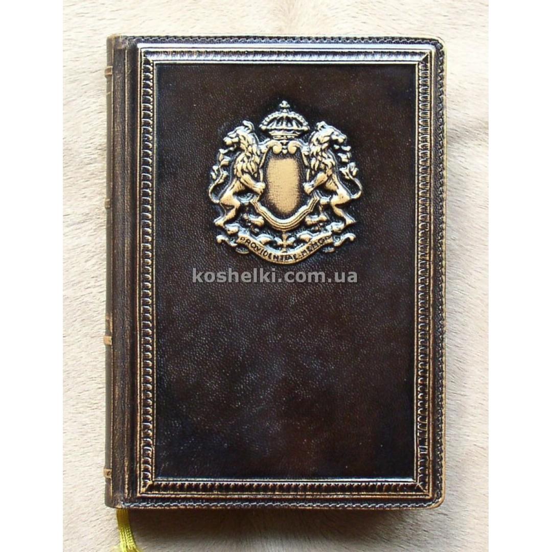 Кожаный блокнот ручной работы Золотые Ворота А5