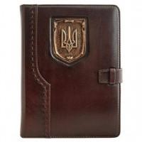 Щоденник Герб Украины коричневый А5