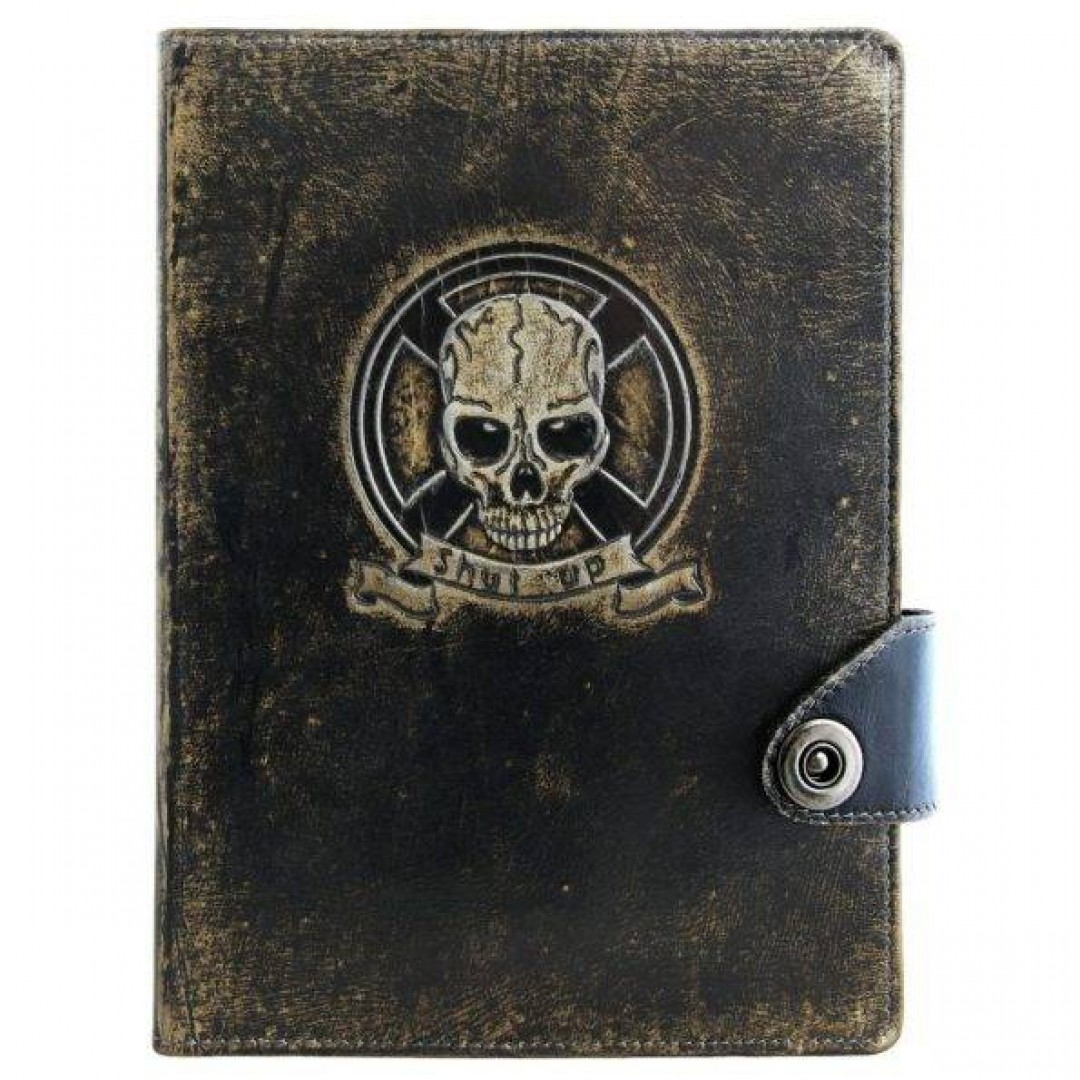 Щоденник шкіряний Оптимус Чорний А5